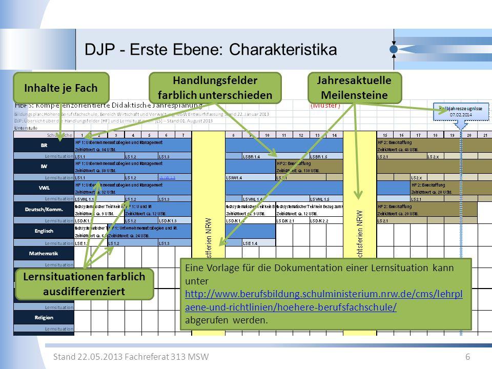 DJP - Erste Ebene: Charakteristika