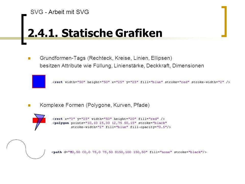 2.4.1. Statische Grafiken SVG - Arbeit mit SVG