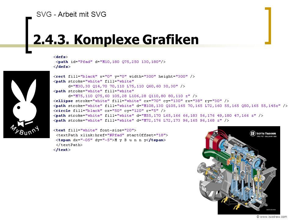 SVG - Arbeit mit SVG 2.4.3. Komplexe Grafiken © www.isodraw.com