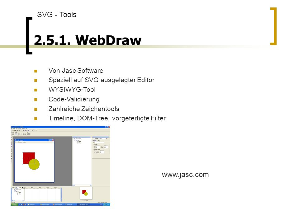 2.5.1. WebDraw SVG - Tools www.jasc.com Von Jasc Software