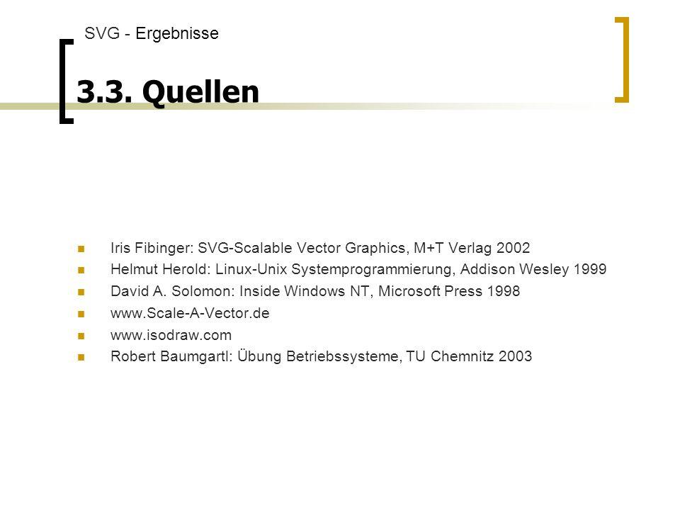 3.3. Quellen SVG - Ergebnisse