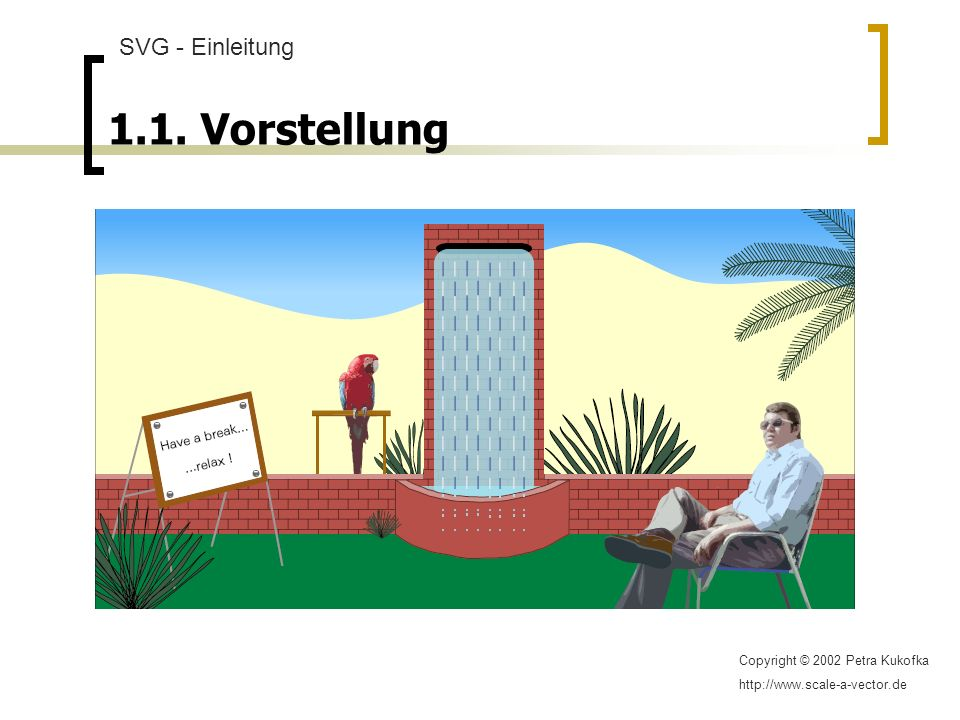 1.1. Vorstellung SVG - Einleitung Copyright © 2002 Petra Kukofka