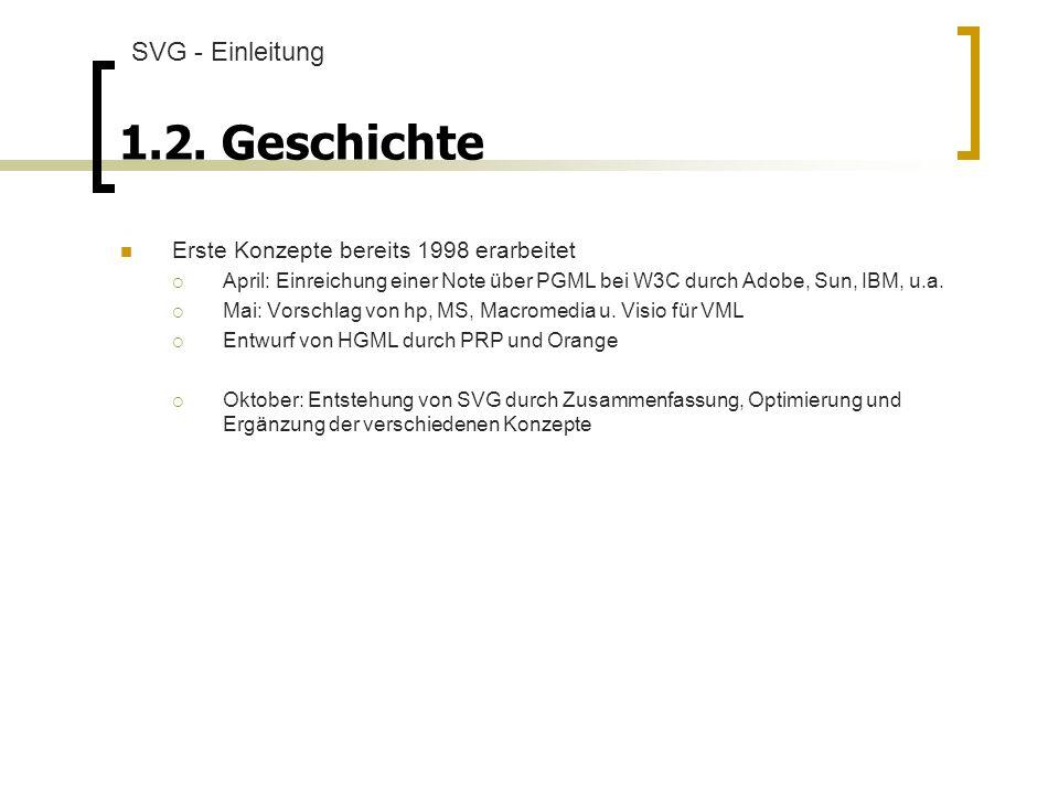 1.2. Geschichte SVG - Einleitung