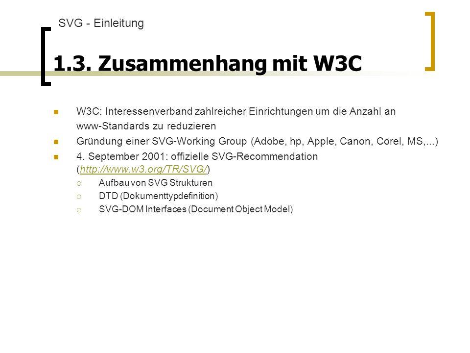 1.3. Zusammenhang mit W3C SVG - Einleitung
