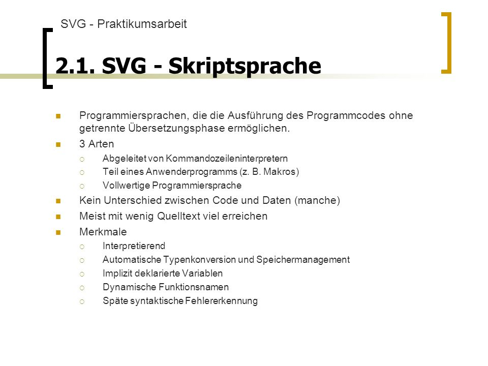 2.1. SVG - Skriptsprache SVG - Praktikumsarbeit