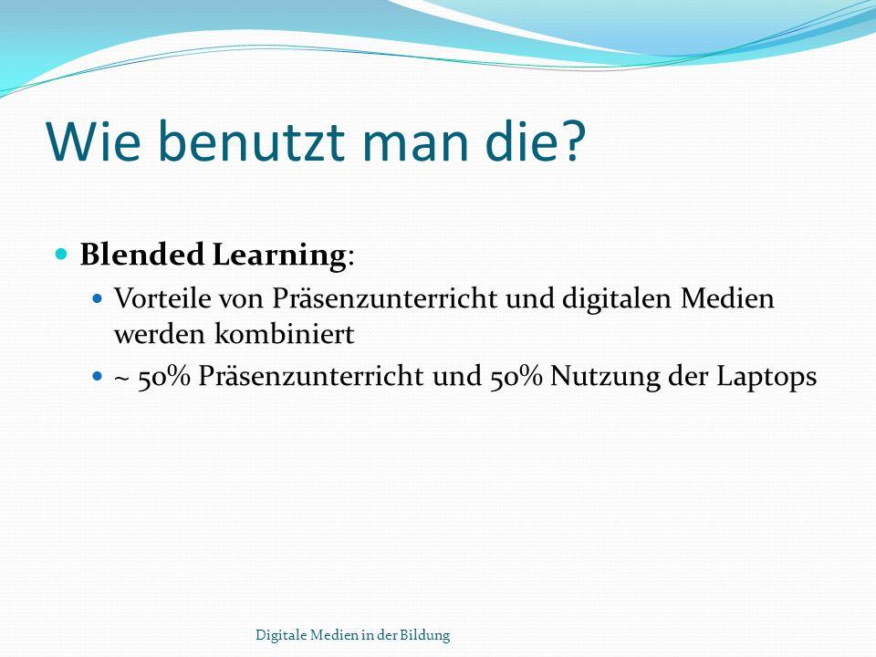 Wie benutzt man die Blended Learning: