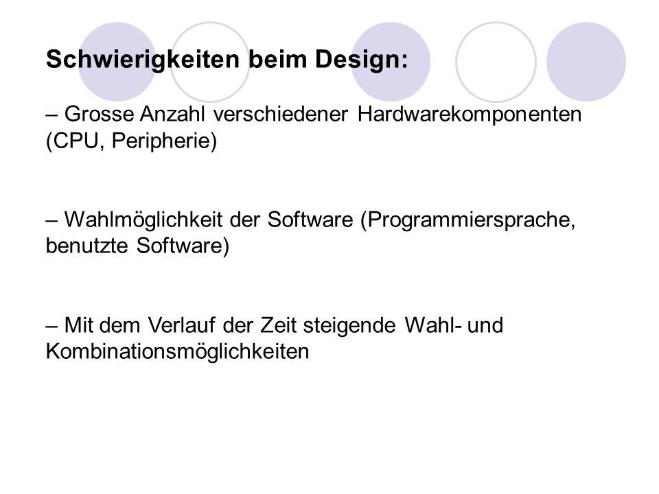 Schwierigkeiten beim Design: