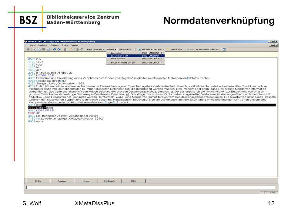 Normdatenverknüpfung