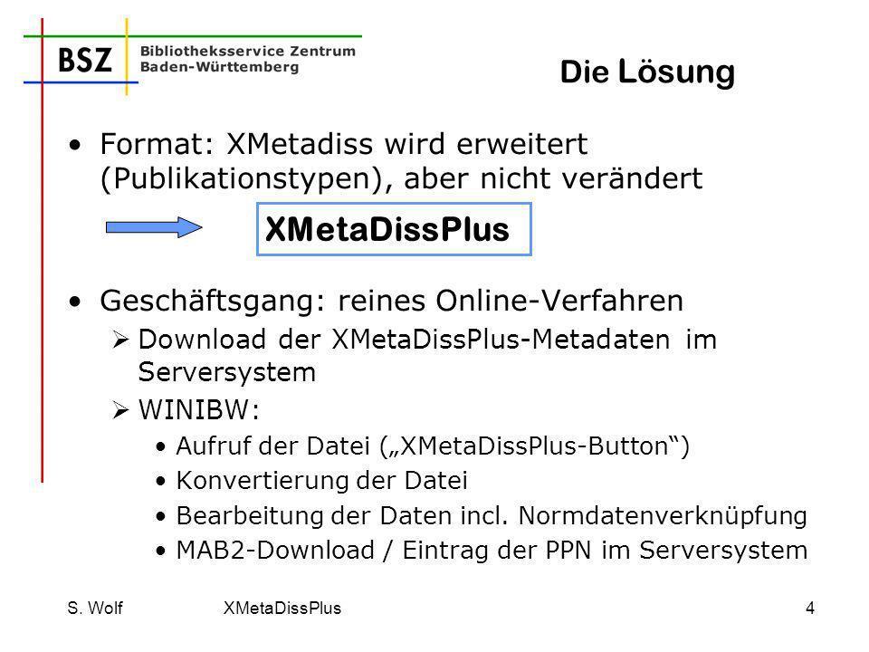 XMetaDissPlus Die Lösung