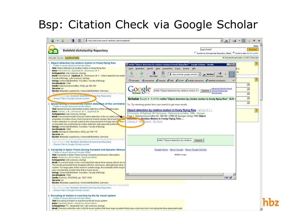 Bsp: Citation Check via Google Scholar