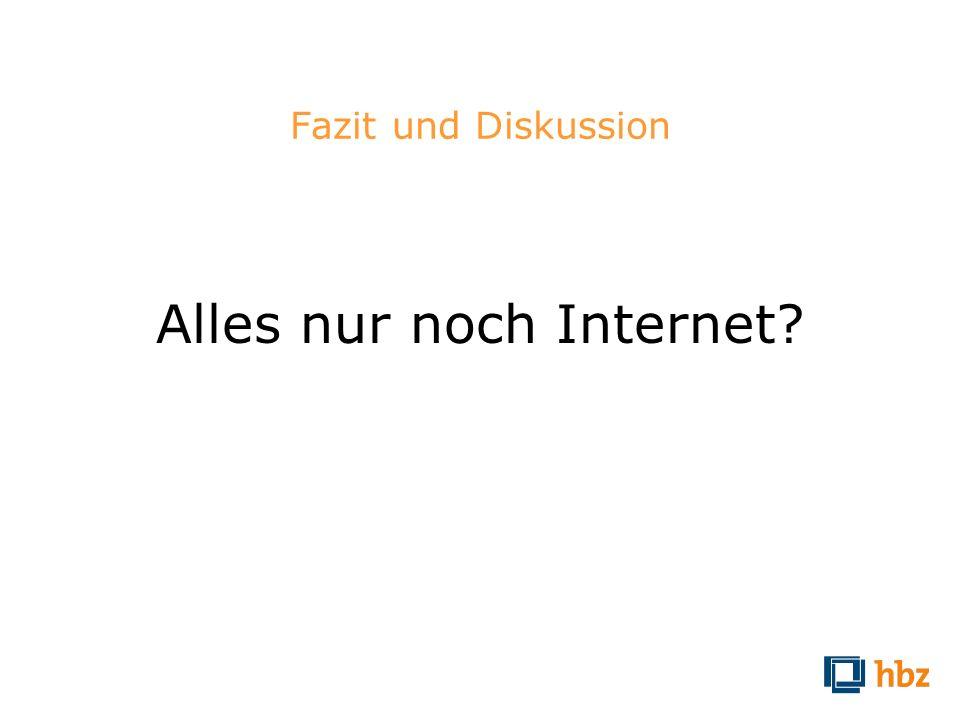 Alles nur noch Internet