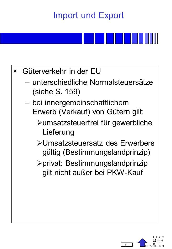 Import und Export Güterverkehr in der EU