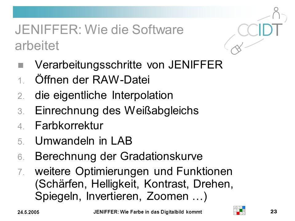 JENIFFER: Wie die Software arbeitet