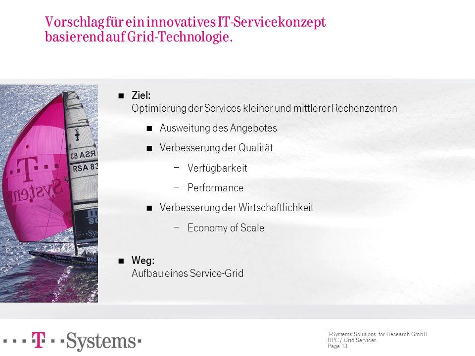 Vorschlag für ein innovatives IT-Servicekonzept basierend auf Grid-Technologie.