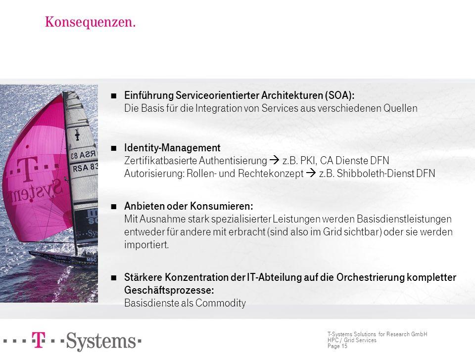 Konsequenzen. Einführung Serviceorientierter Architekturen (SOA): Die Basis für die Integration von Services aus verschiedenen Quellen.