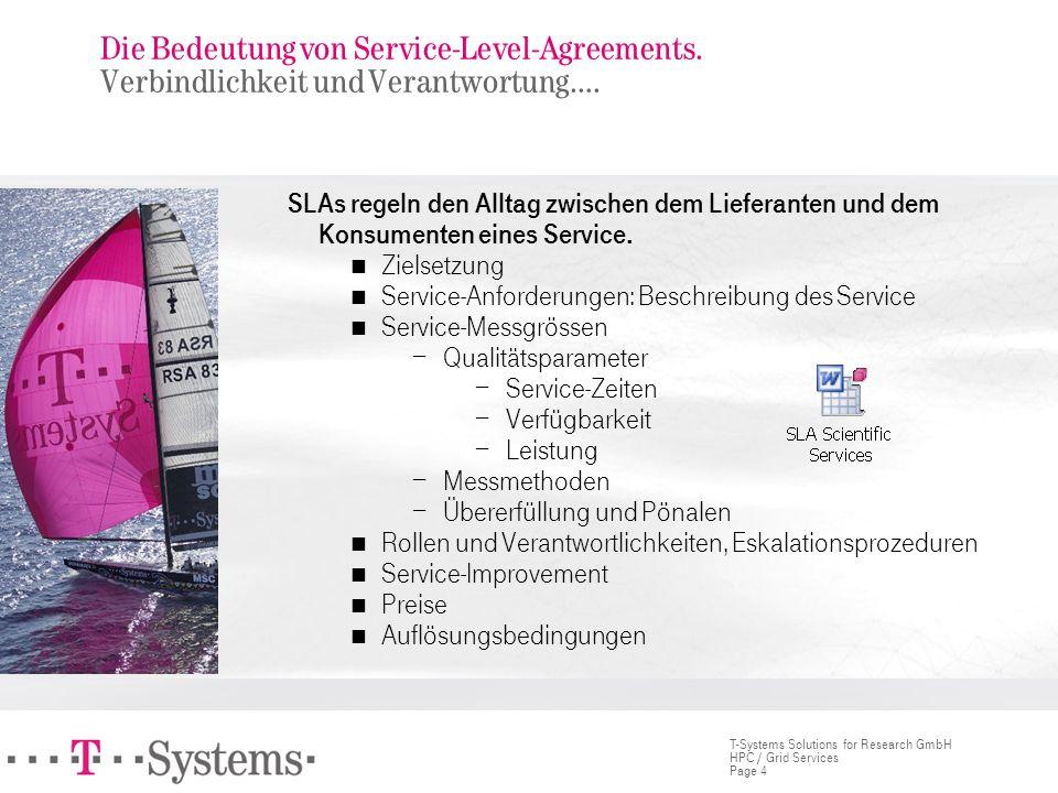 Die Bedeutung von Service-Level-Agreements