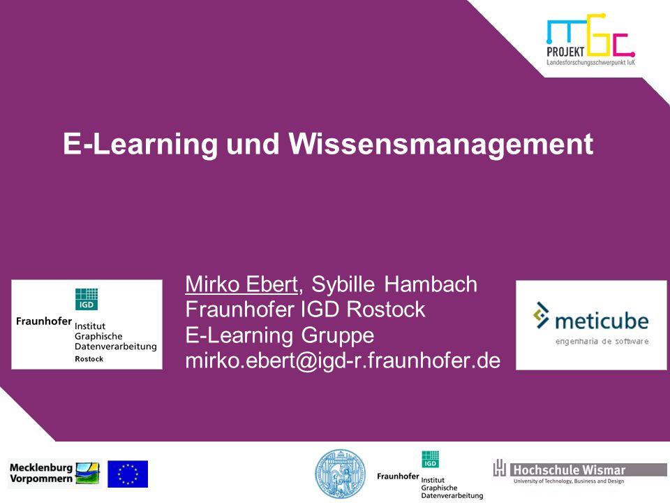 E-Learning und Wissensmanagement