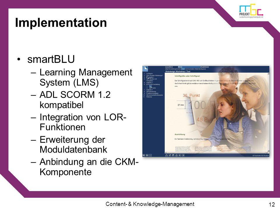 Implementation smartBLU Learning Management System (LMS)
