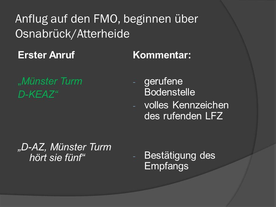 Anflug auf den FMO, beginnen über Osnabrück/Atterheide