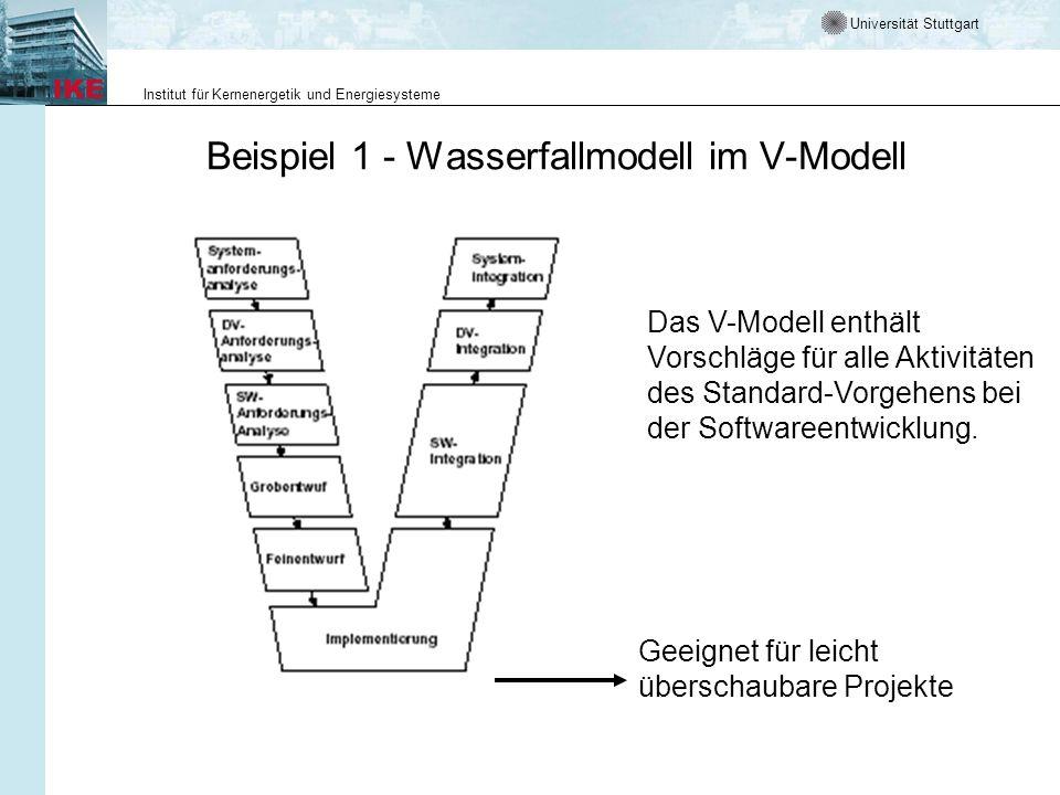 Beispiel 1 - Wasserfallmodell im V-Modell