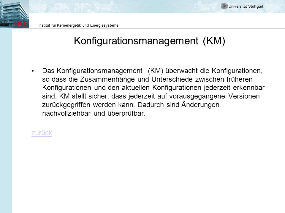 Konfigurationsmanagement (KM)