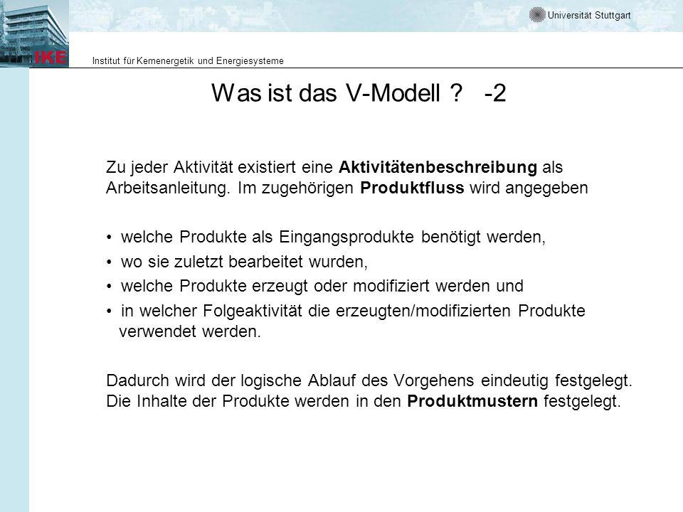 Was ist das V-Modell -2