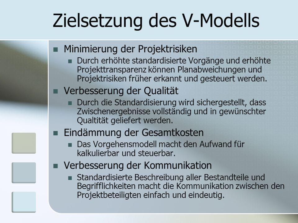 Zielsetzung des V-Modells