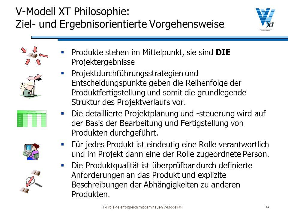 V-Modell XT Philosophie: Ziel- und Ergebnisorientierte Vorgehensweise