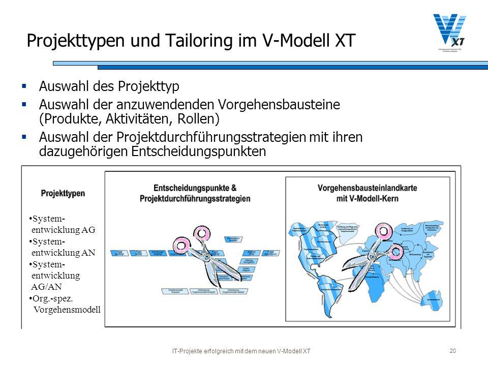 Projekttypen und Tailoring im V-Modell XT