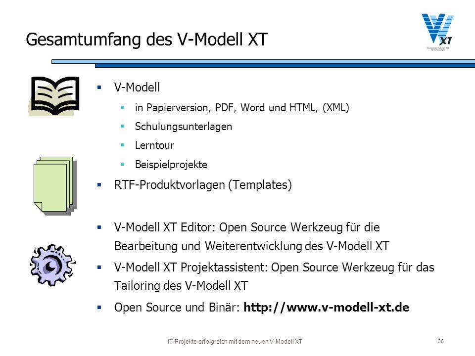Gesamtumfang des V-Modell XT