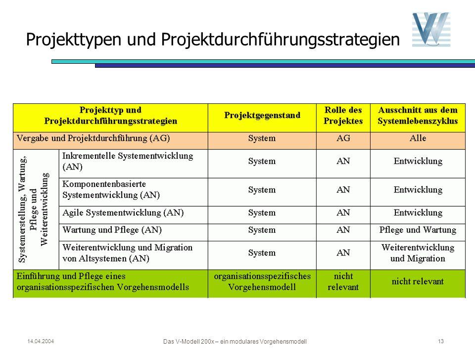 Projekttypen und Projektdurchführungsstrategien