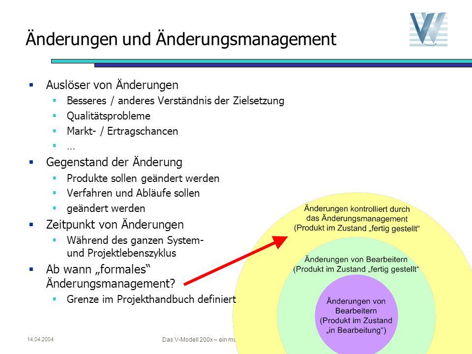Änderungen und Änderungsmanagement