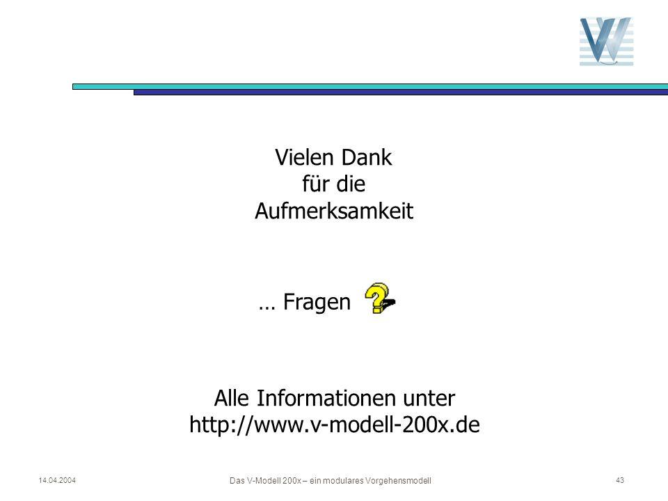 Alle Informationen unter http://www.v-modell-200x.de