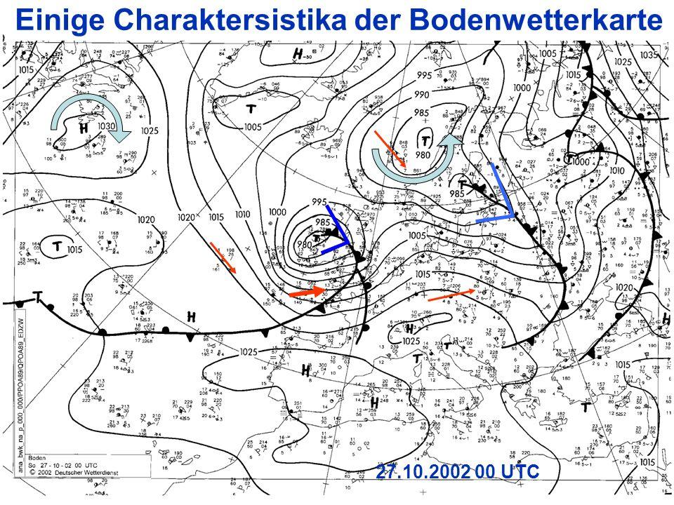 Einige Charaktersistika der Bodenwetterkarte
