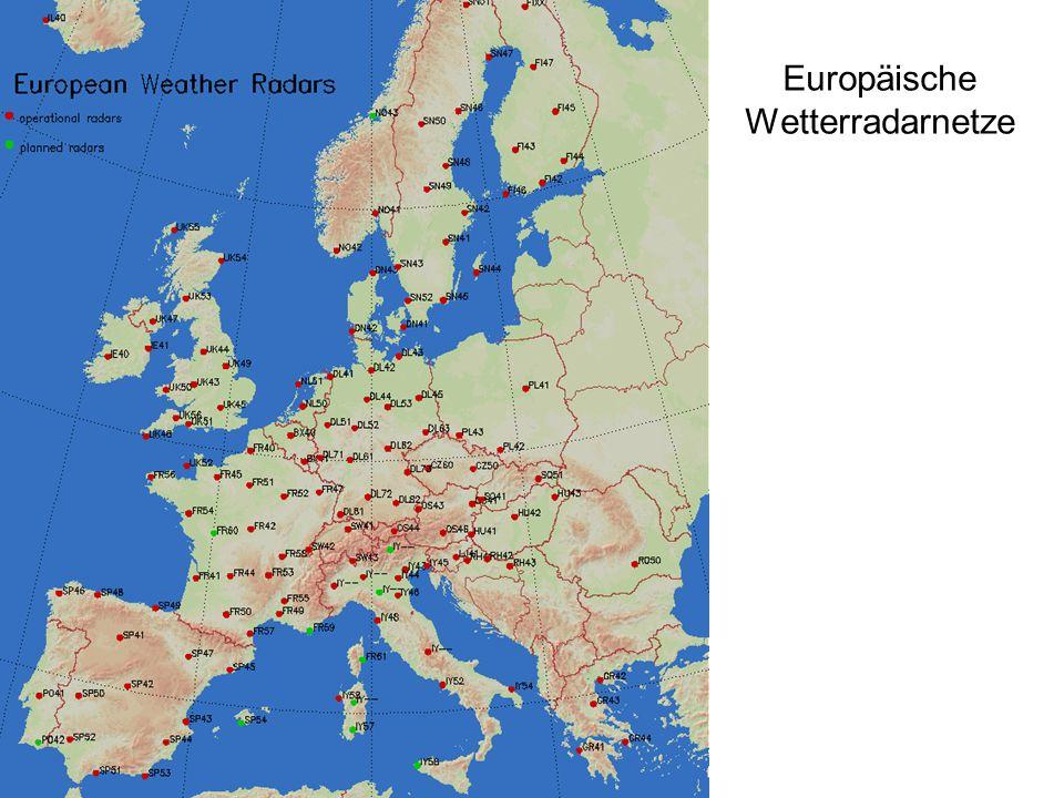 Europäische Wetterradarnetze