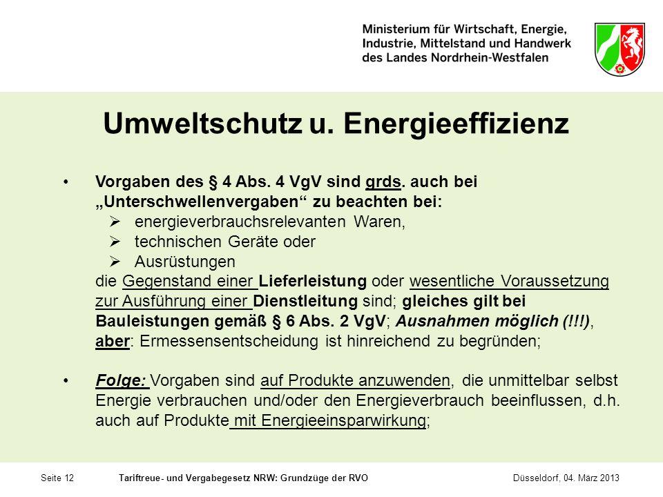 Umweltschutz u. Energieeffizienz