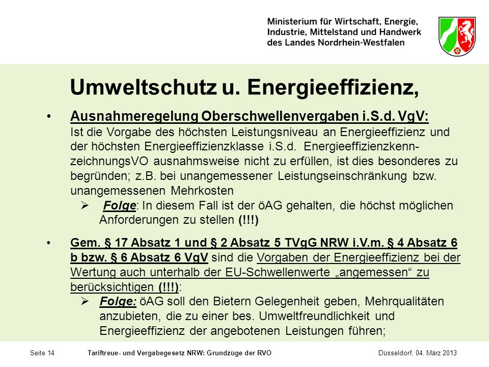 Umweltschutz u. Energieeffizienz,