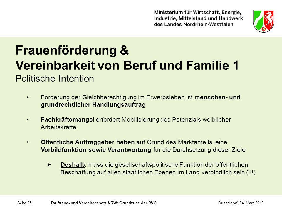 Frauenförderung & Vereinbarkeit von Beruf und Familie 1