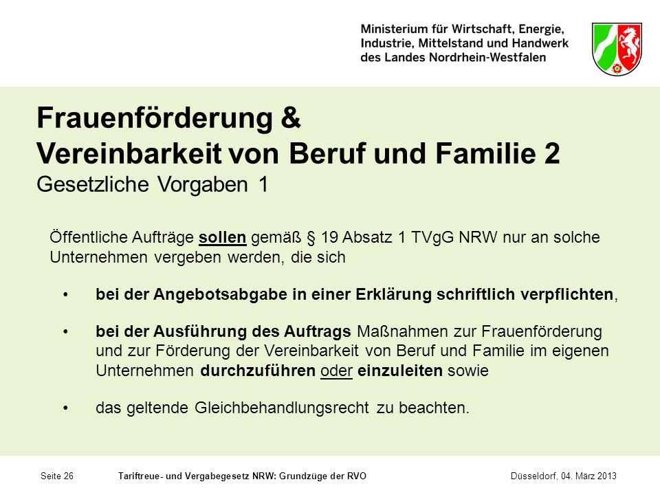 Frauenförderung & Vereinbarkeit von Beruf und Familie 2