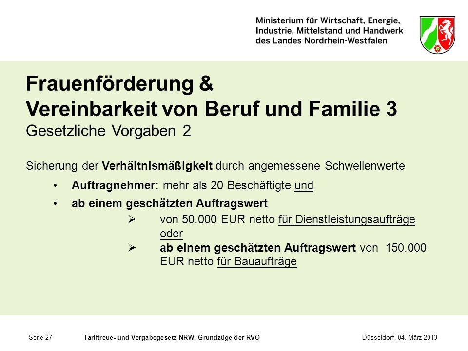 Frauenförderung & Vereinbarkeit von Beruf und Familie 3