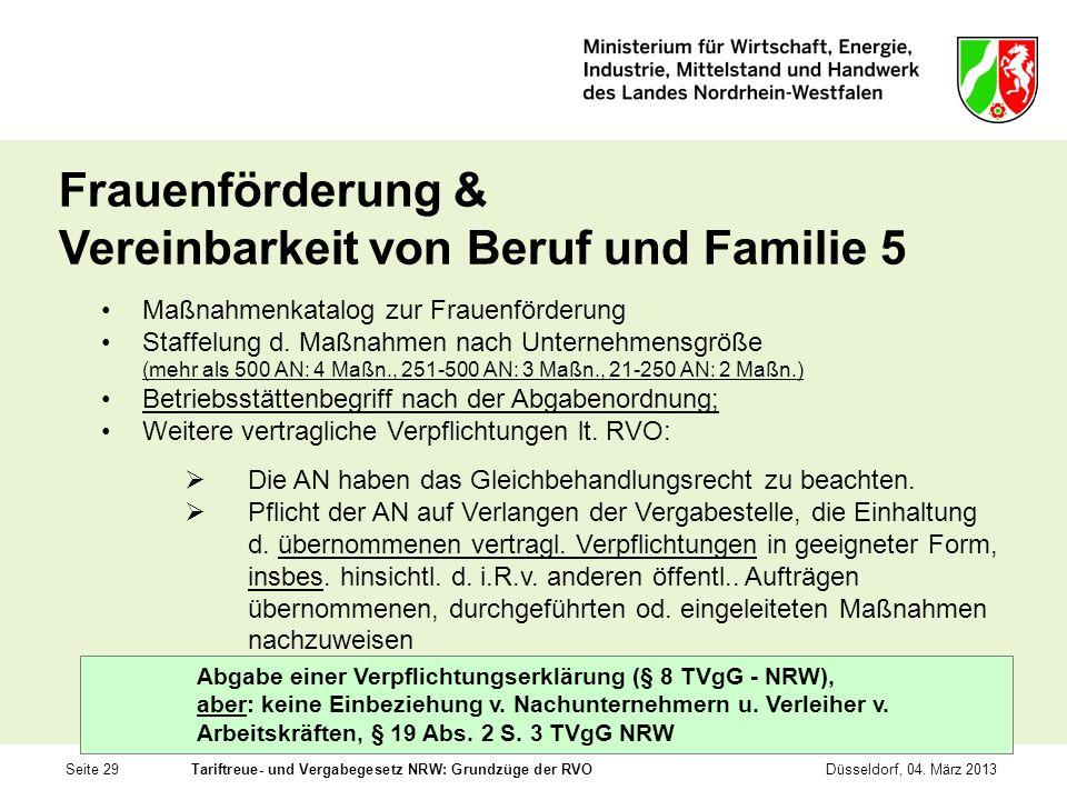 Frauenförderung & Vereinbarkeit von Beruf und Familie 5