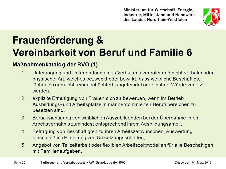 Frauenförderung & Vereinbarkeit von Beruf und Familie 6