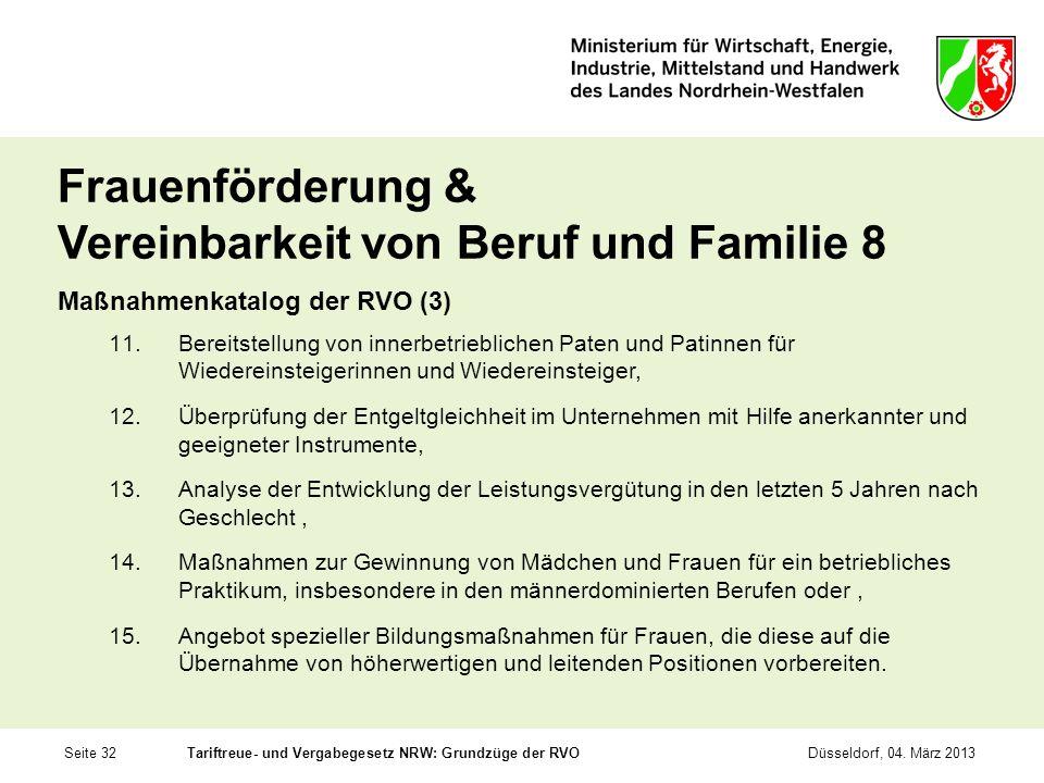 Frauenförderung & Vereinbarkeit von Beruf und Familie 8