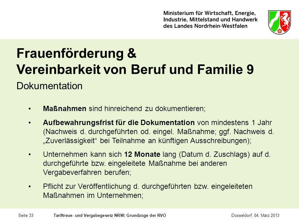 Frauenförderung & Vereinbarkeit von Beruf und Familie 9