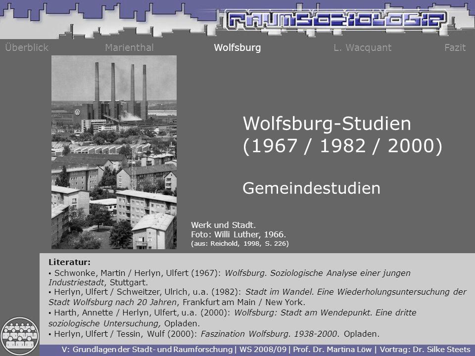 Wolfsburg-Studien (1967 / 1982 / 2000) Gemeindestudien Überblick