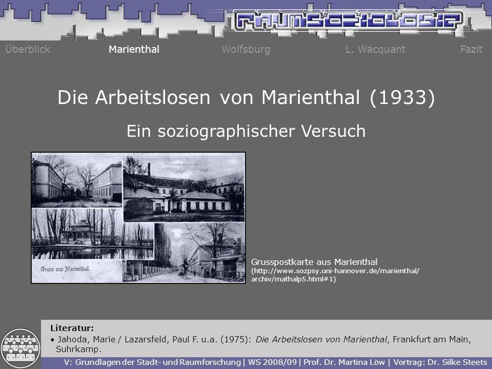 Die Arbeitslosen von Marienthal (1933)