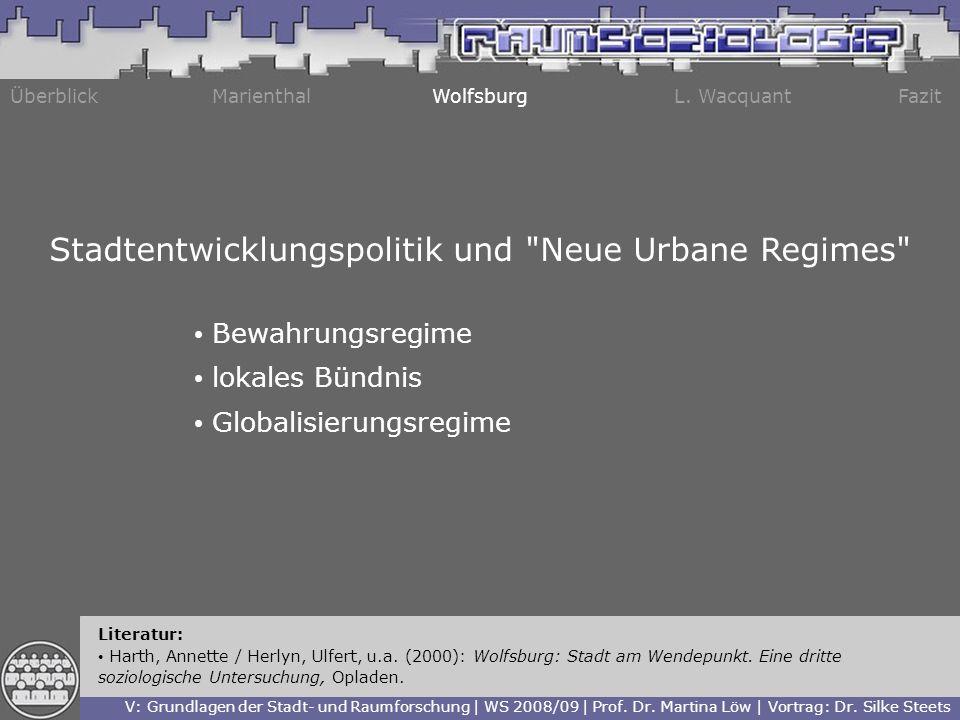 Stadtentwicklungspolitik und Neue Urbane Regimes