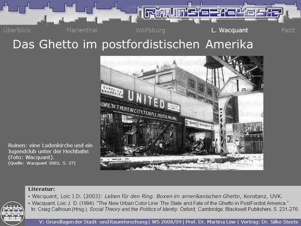 Das Ghetto im postfordistischen Amerika