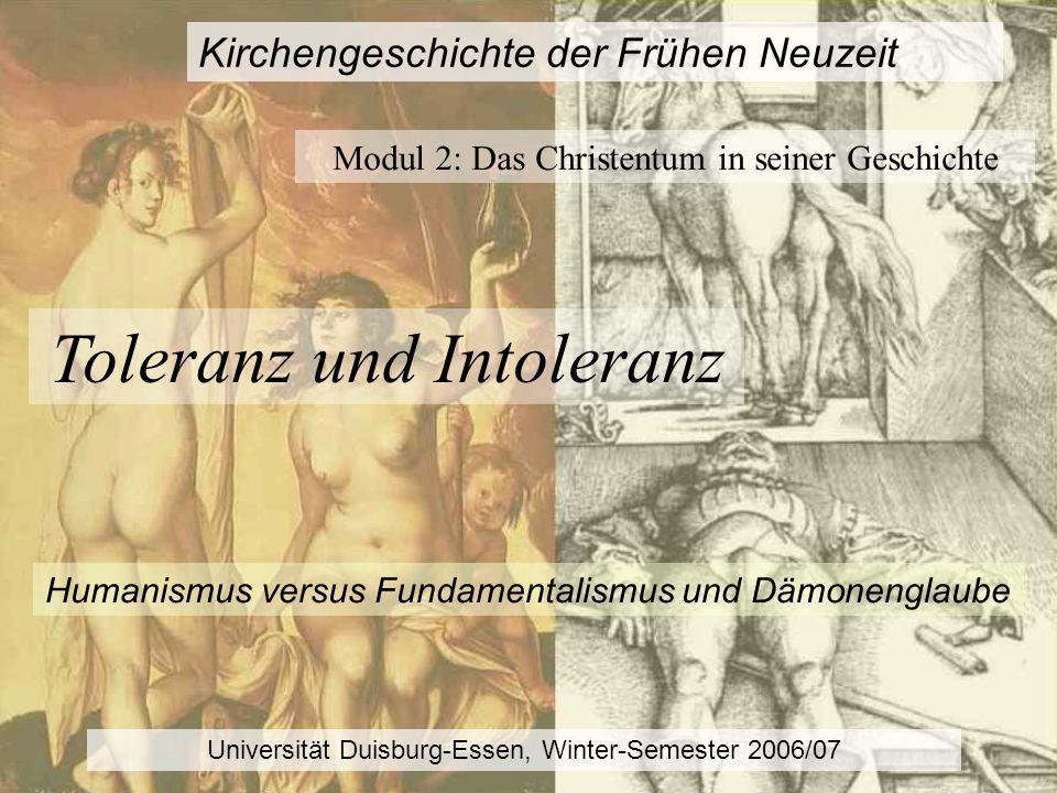 Humanismus versus Fundamentalismus und Dämonenglaube