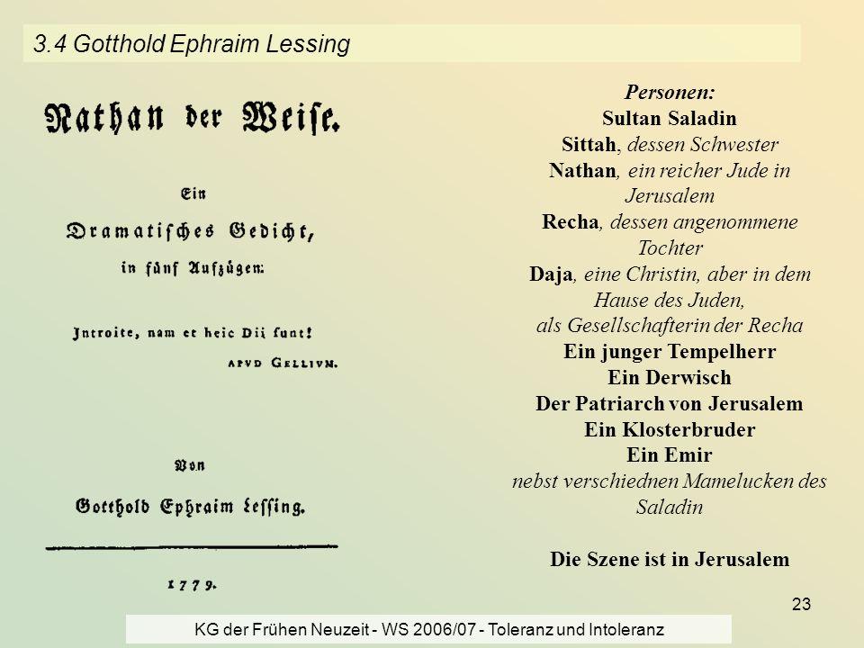 3.4 Gotthold Ephraim Lessing